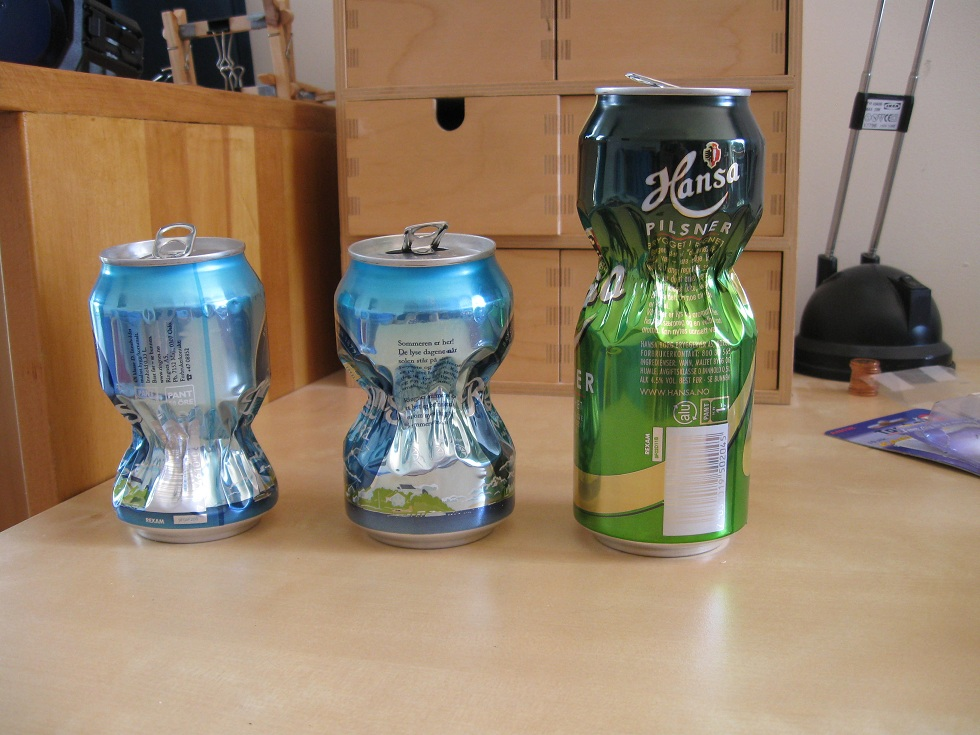 Pinched cans