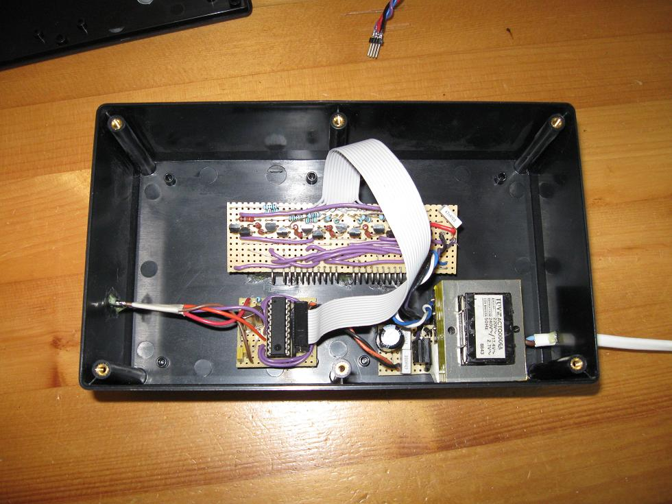Inside of chronograph box