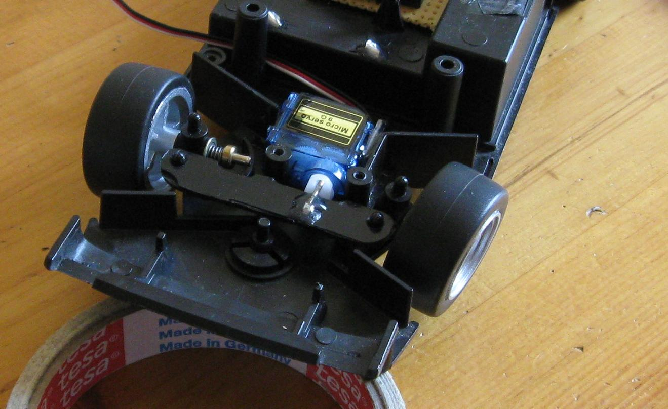 assembled steering mechanism