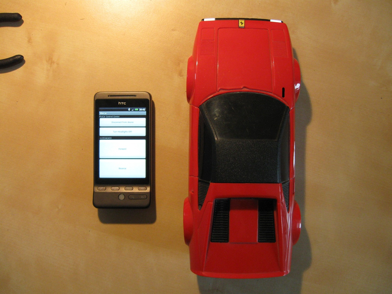 cellphone and bluetooth car