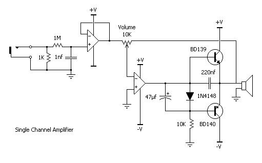 Single Channel Amp Schematic