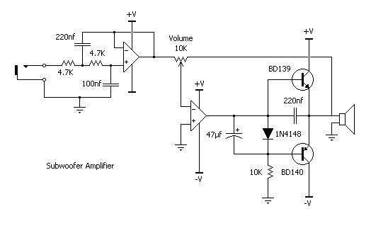 Subwoofer Amplifier Schematic