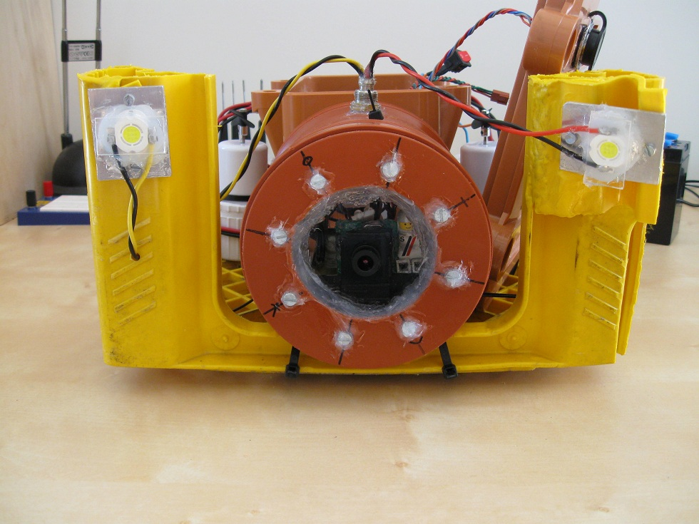 Front view of ROV