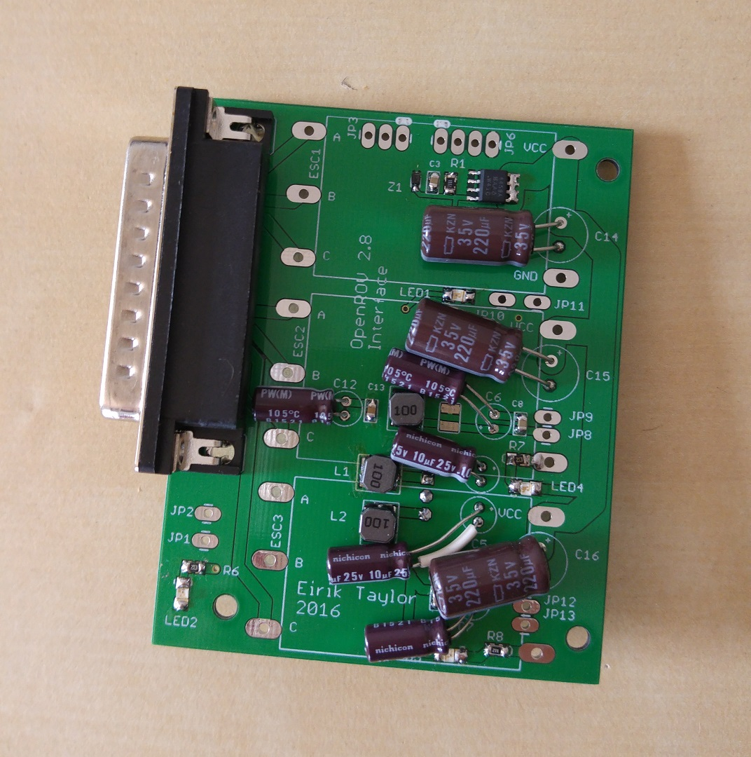 Top layer of interface board